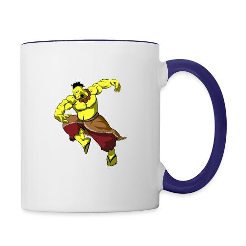Yellow orc - Contrast Coffee Mug