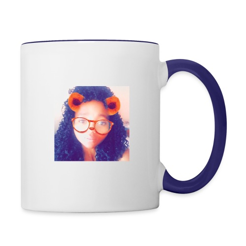 Just a face - Contrast Coffee Mug