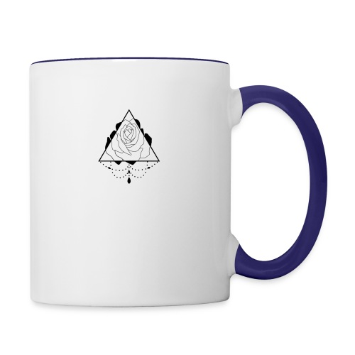 black rose - Contrast Coffee Mug