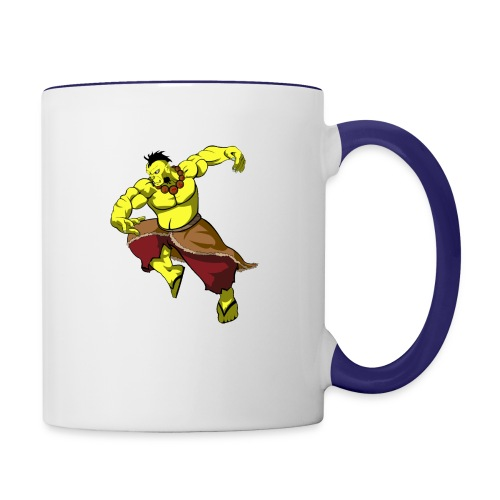 Yellow orc - Contrast Coffee Mug