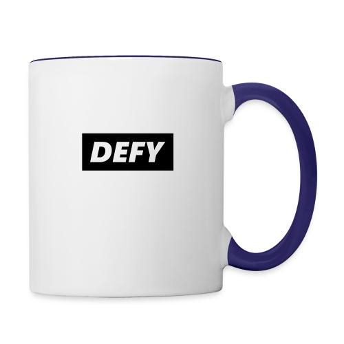 defy logo - Contrast Coffee Mug