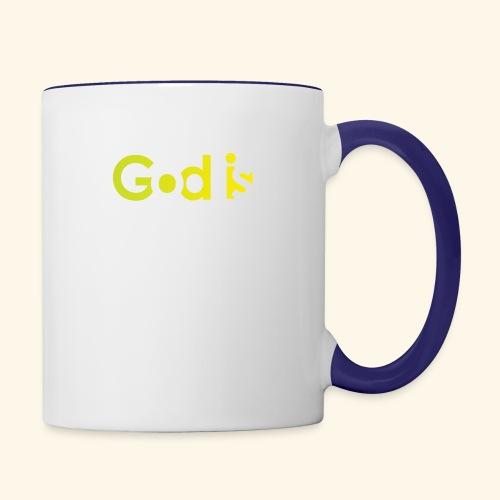 GOD IS #7 - Contrast Coffee Mug