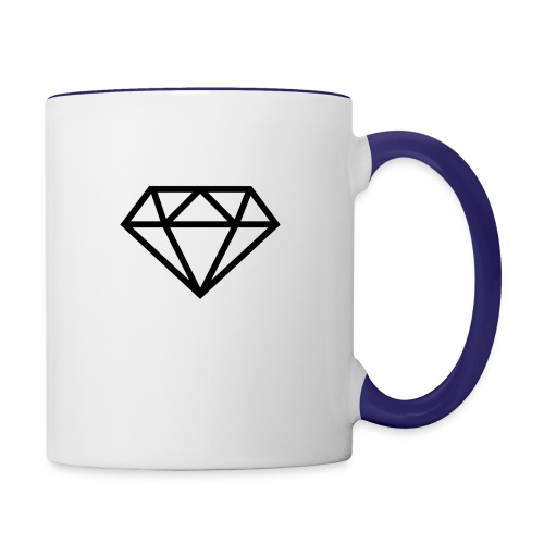 diamond outline 318 36534 - Contrast Coffee Mug