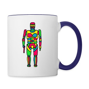 Cartoon Robocop in Color - Contrast Coffee Mug