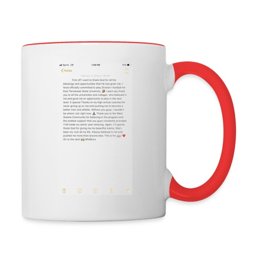 Text from a Football Commit - Contrast Coffee Mug