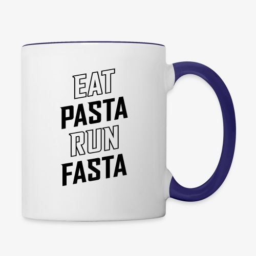 Eat Pasta Run Fasta v2 - Contrast Coffee Mug