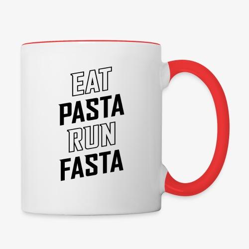 Eat Pasta Run Fasta v2 - Contrast Coffee Mug