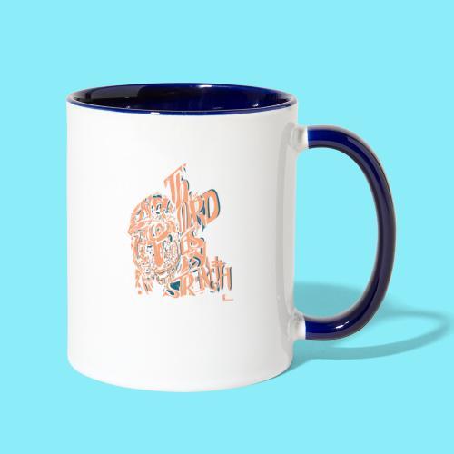 The Lord is my strength Psalm 28:7 - Contrast Coffee Mug