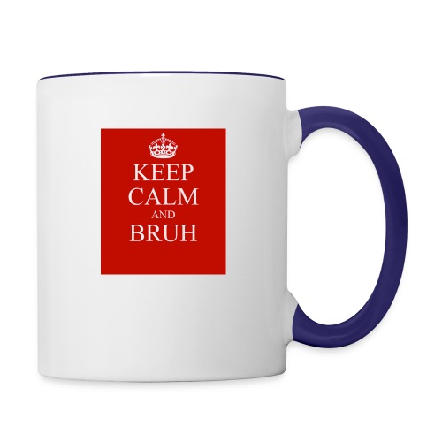 DP Branded-Keep Calm And Drink Bruh - Contrast Coffee Mug