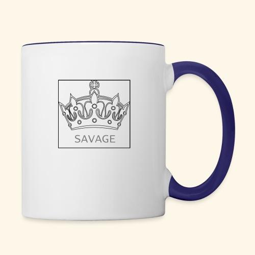 Savage Crown - Contrast Coffee Mug
