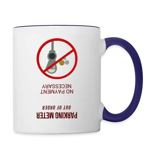 parkingmeterupsidedown.png - Contrast Coffee Mug