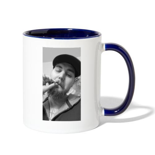 Turupxprime Hoots black n white merch line. - Contrast Coffee Mug