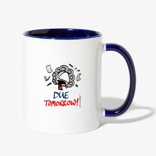 Little Judges - Due Tomorrow - Contrast Coffee Mug