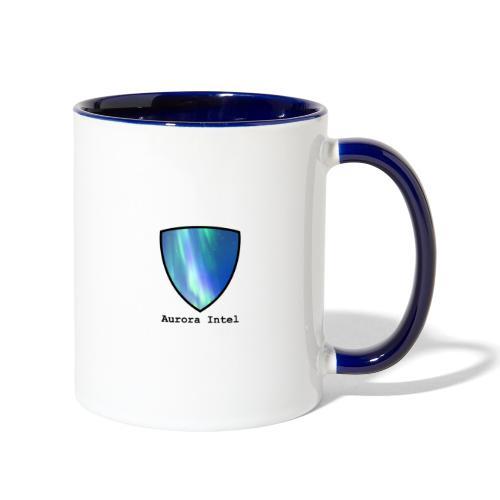 Aurora Intel shield with text - Contrast Coffee Mug