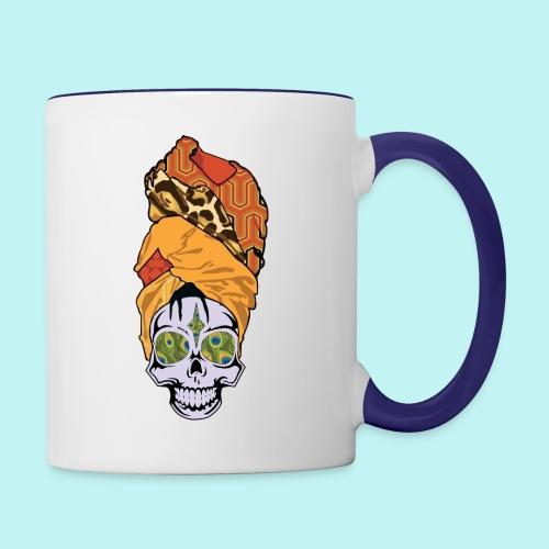 ERYKAH BADU SKULLY - Contrast Coffee Mug
