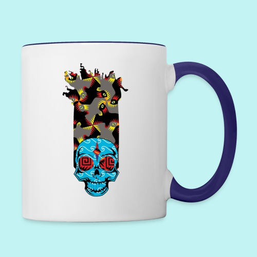90s KID SKULLY - Contrast Coffee Mug