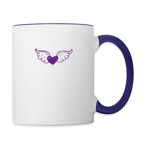 Hannie purple heart with wings - Contrast Coffee Mug
