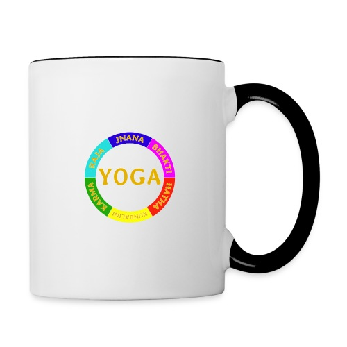 6 ways of Yoga - Contrast Coffee Mug