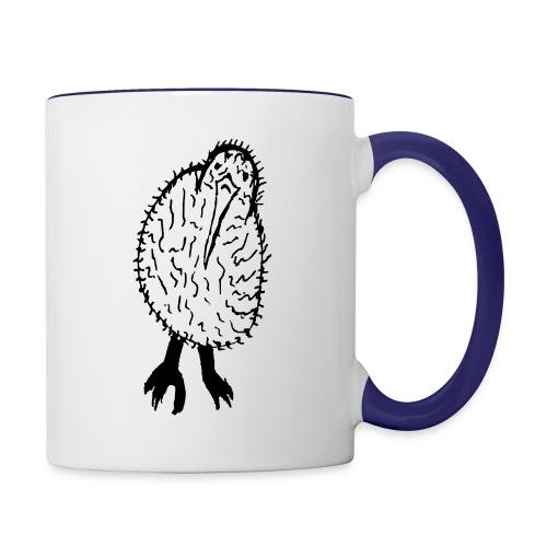 Stephen's hand drawn kiwi - Contrast Coffee Mug