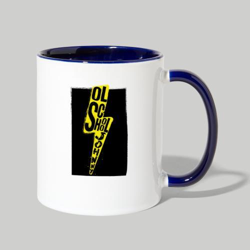 Ol' School Johnny Colour Lightning - Contrast Coffee Mug