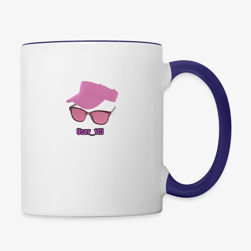 Glasses And Hat - Contrast Coffee Mug