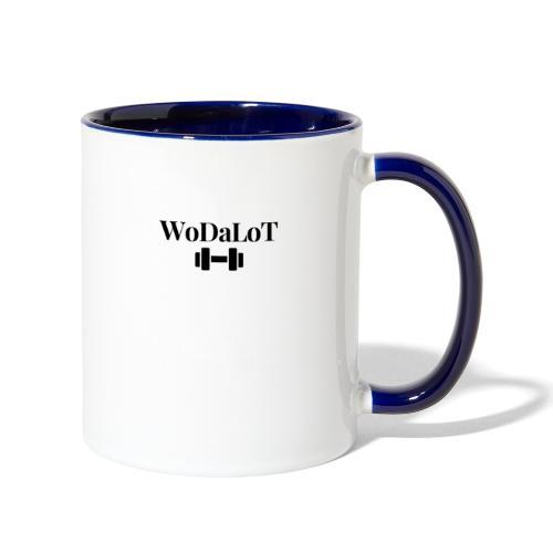 WoDaLoT black logo - Contrast Coffee Mug