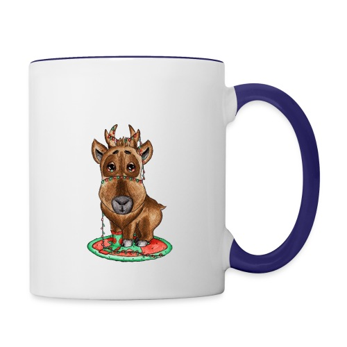 reindeer refined scribble - Contrast Coffee Mug