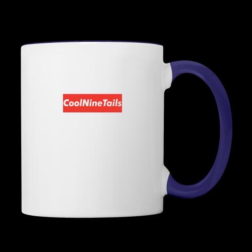 CoolNineTails supreme logo - Contrast Coffee Mug