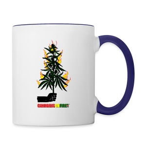 Cannabis On Fire T-shirts - Contrast Coffee Mug