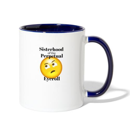 eyerollsisterhoodlogo - Contrast Coffee Mug