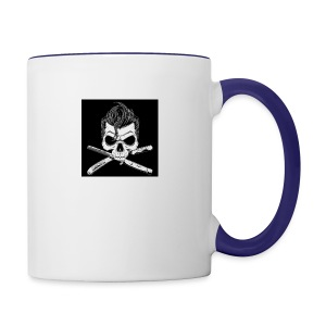 Greaser skull - Contrast Coffee Mug