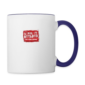 Live It OutLoud Logo - Contrast Coffee Mug