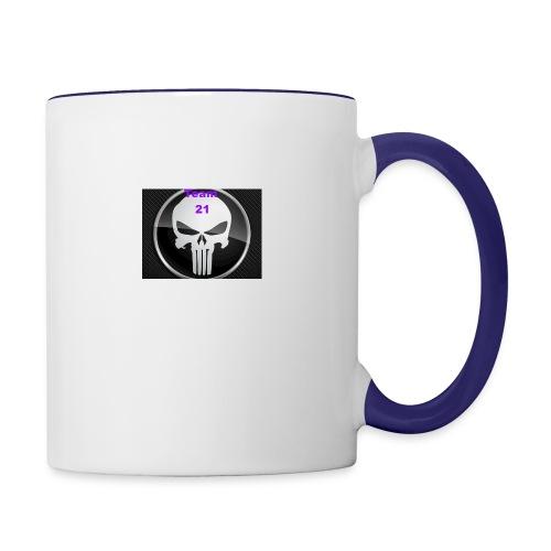 Team 21 white - Contrast Coffee Mug