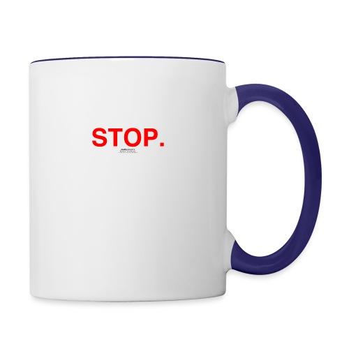 stop - Contrast Coffee Mug