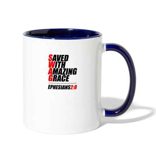SWAG: Saved With Amazing Grace Christian Shirt - Contrast Coffee Mug