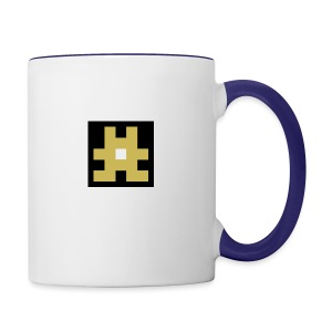YELLOW hashtag - Contrast Coffee Mug
