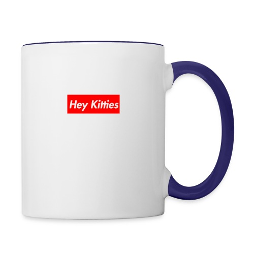 Hey Kitties - Contrast Coffee Mug