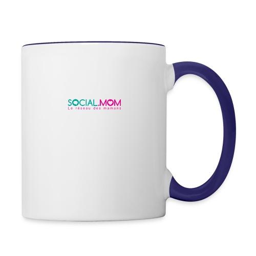 Social.mom logo français - Contrast Coffee Mug