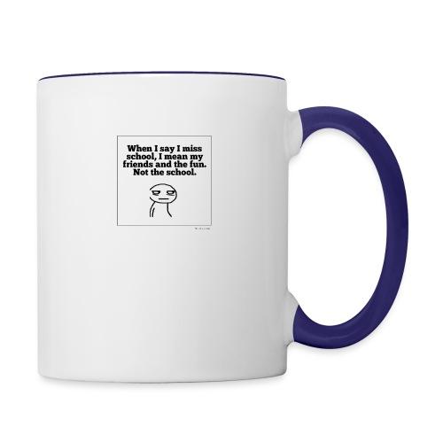 Funny school quote jumper - Contrast Coffee Mug