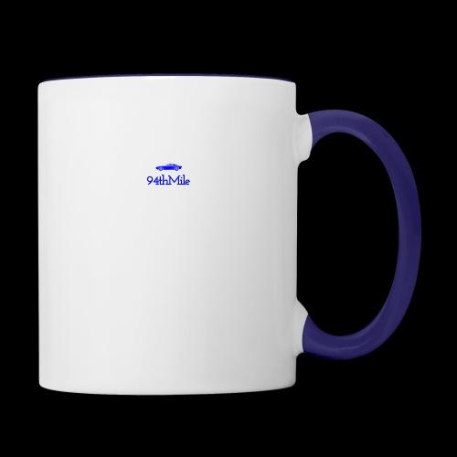 Blue 94th mile - Contrast Coffee Mug