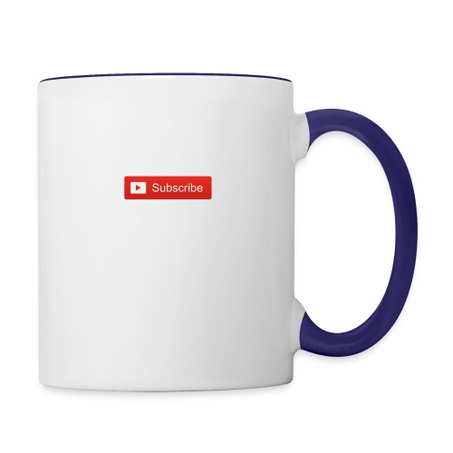 YOUTUBE SUBSCRIBE - Contrast Coffee Mug