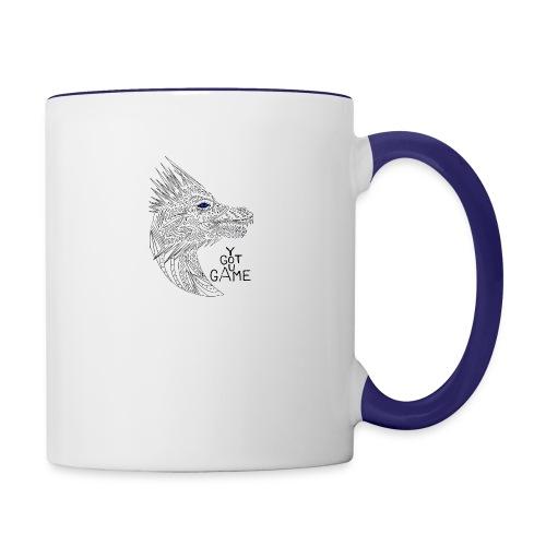 Blue eye dragon - Contrast Coffee Mug