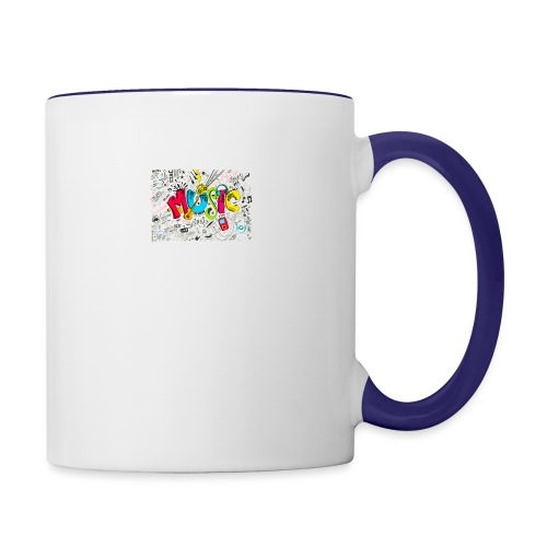 music banner - Contrast Coffee Mug