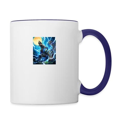Blue lighting dragom - Contrast Coffee Mug