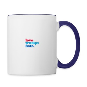 Love Trumps Hate - Contrast Coffee Mug