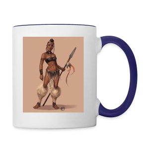 Female Warrior - Contrast Coffee Mug