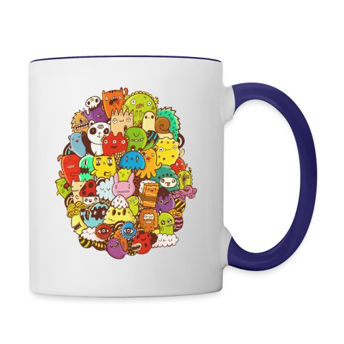Doodle for a poodle - Contrast Coffee Mug