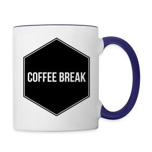 Coffee Break logo - Contrast Coffee Mug