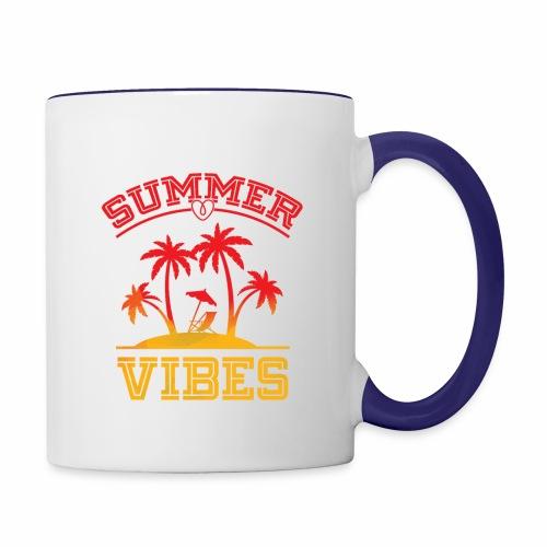 Summer Vibes - Contrast Coffee Mug