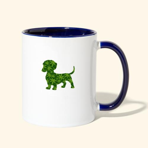 PUFFY DOG - PRESENT FOR SMOKING DOGLOVER - Contrast Coffee Mug